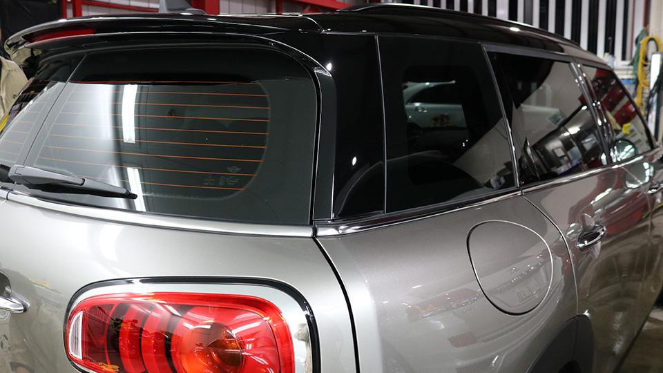 BMWミニ カーフィルムリアセット透過率5%施工